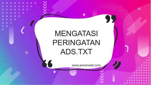 Cara Mengatasi Peringatan Ads.txt Blog dengan Mudah