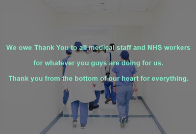 Group of Doctors with white background written thanks doctor messages