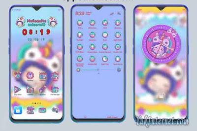 Download Tema Unicorn Copany OPPO Realme