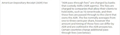 ADR是什麼:TD說明ADR額外收費