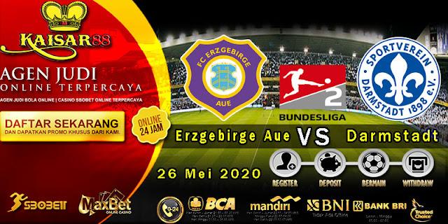 Prediksi Bola Terpercaya Liga Jerman2 Erzgebirge Aue vs Darmstadt 26 Mei 2020