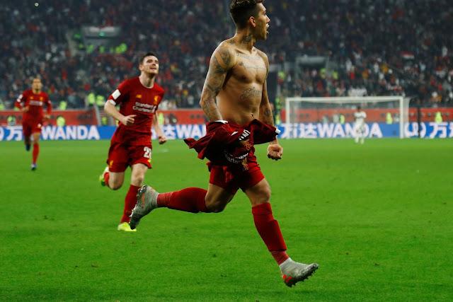 Com gol do alagoano Firmino, Liverpool vence o Flamengo e conquista Mundial de Clubes