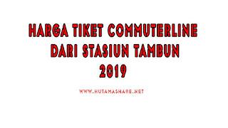 Harga Tiket Commuterline Dari Stasiun Tambun Terbaru 2019