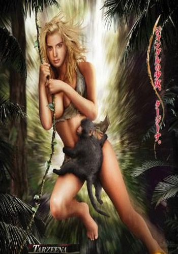 [18+] Tarzeena-Jiggle in the Jungle 2008 HDRip 300MB Poster