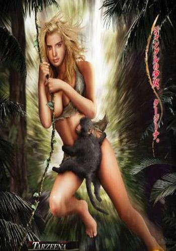 [18+] Tarzeena-Jiggle in the Jungle 2008 HDRip 300MB Poster