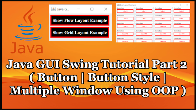 Java GUI Swing Tutorial Part 19.2 | JButton and Multiple Window Using OOP