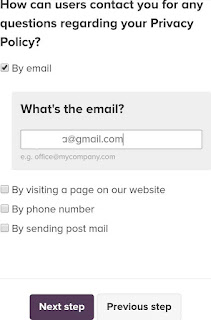 Tambahkan kontak email