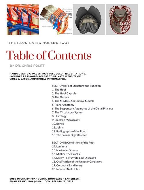 Table of Contents Illustrated Horse's Foot