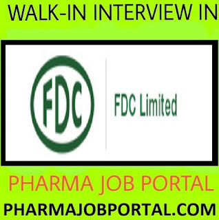 FDC Limited Walk In Interview For Quality Control Apply Online