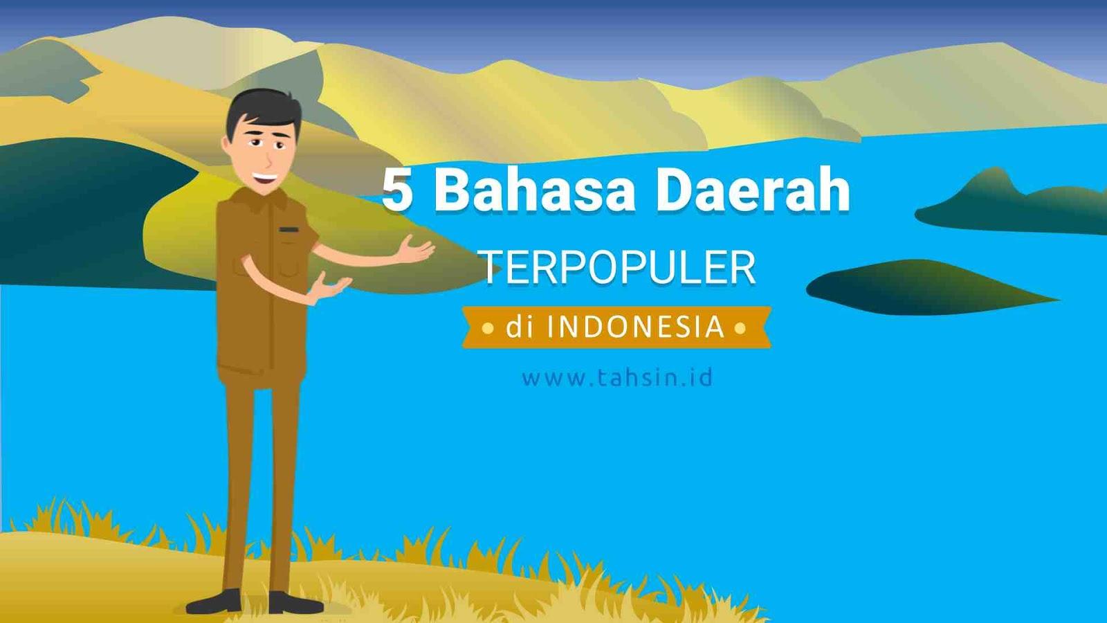 5 bahasa daerah terpopuler di indonesia