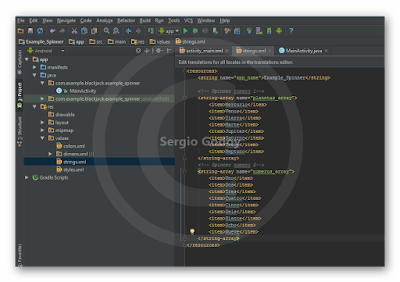 Android Studio - Spinner