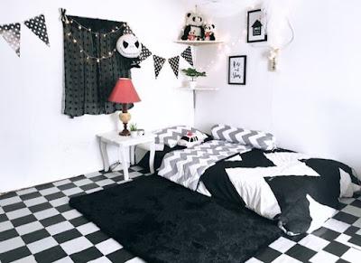 Ide Desain Kamar Tidur Monokrom (Istirahat Nyaman Maksimal)