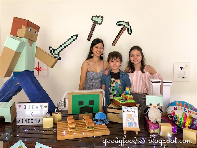 Minecraft themed birthday party