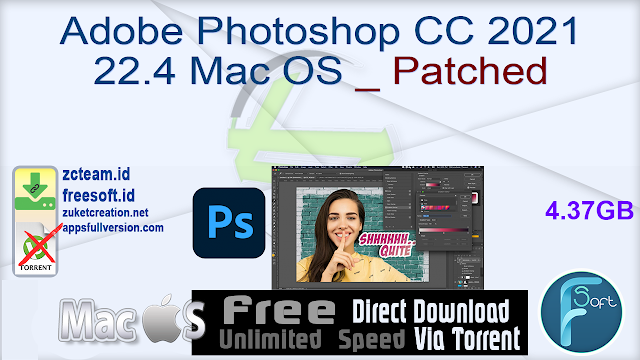 Adobe Photoshop CC 2021 22.4 Mac OS _ Patched_ ZcTeam.id