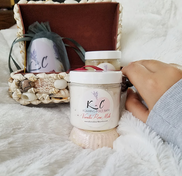 K and C Vanilla Rose Milk Foot bath