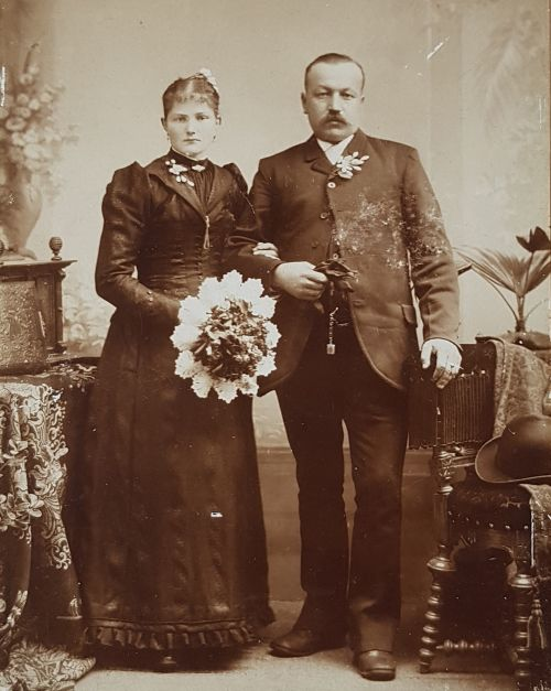 Hochzeitsbild meiner Urgroßeltern