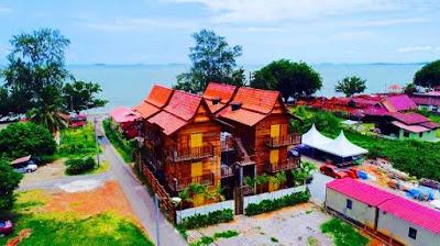 Homestay di melaka tepi pantai Kampong Pinang Sebatang Chalet