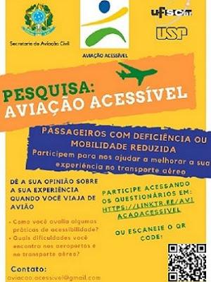 Você encontra acessibilidade quando viaja de avião? Pesquisa da USP e UFSCar quer sua opinião para que aviação civil seja mais acessível