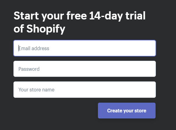 فتح متجر شوبيفاي مجانى 14 يوم