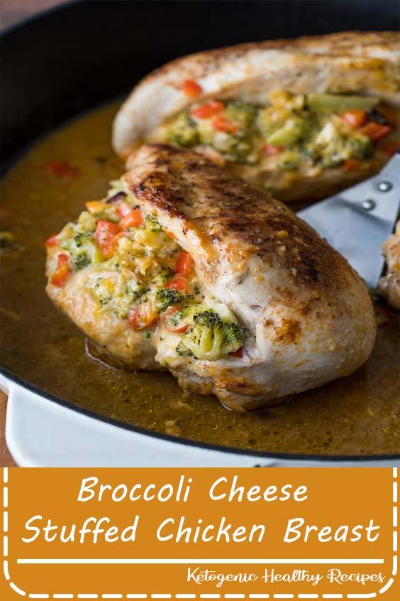 Broccoli Cheese Stuffed Chicken Breast
