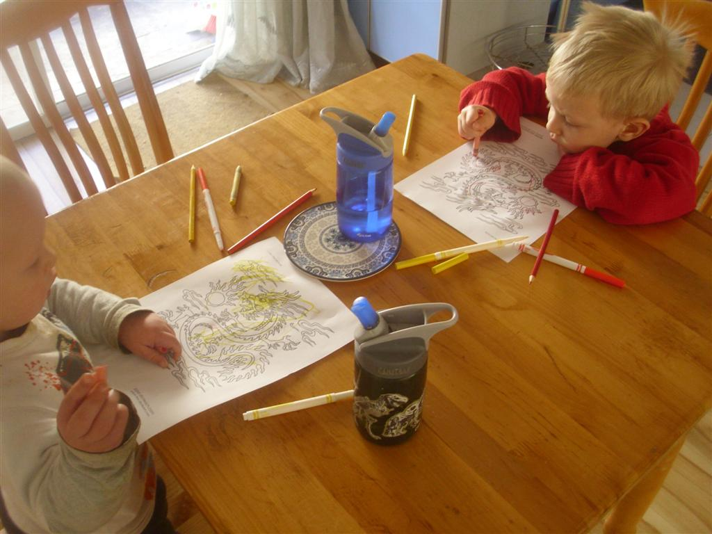 The Do It Yourself Mom Chinese New Year Themed Preschool Activity Coloring Chinese New Year