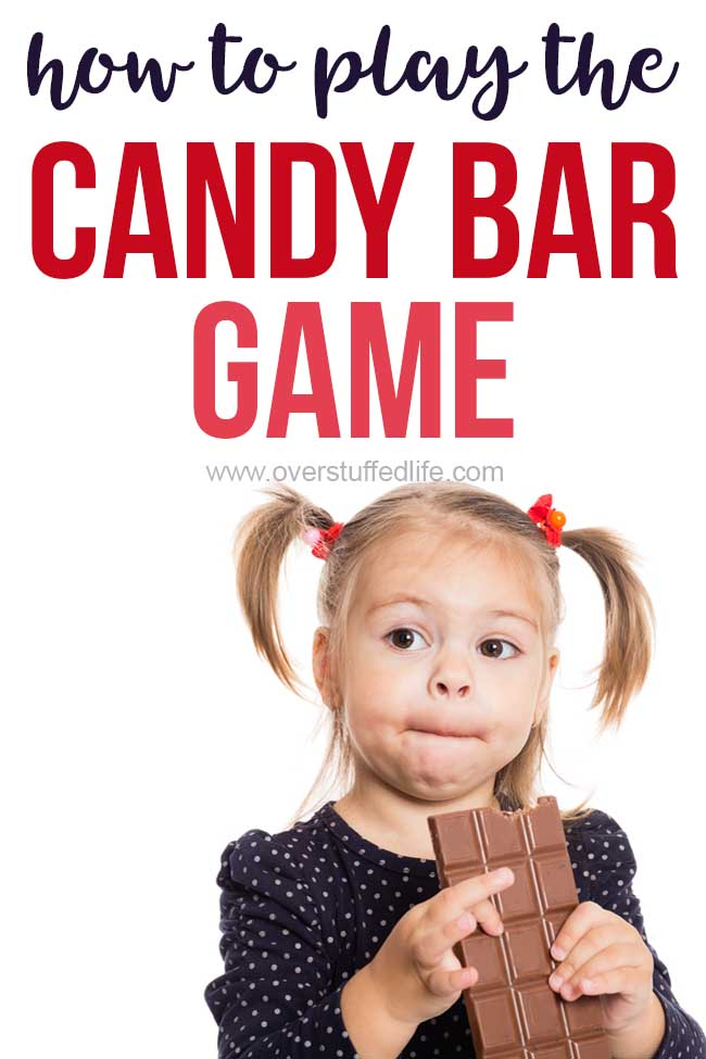 The candy bar game is a fun party game for kids, teens, and adults! Use it for birthday parties or any get together!