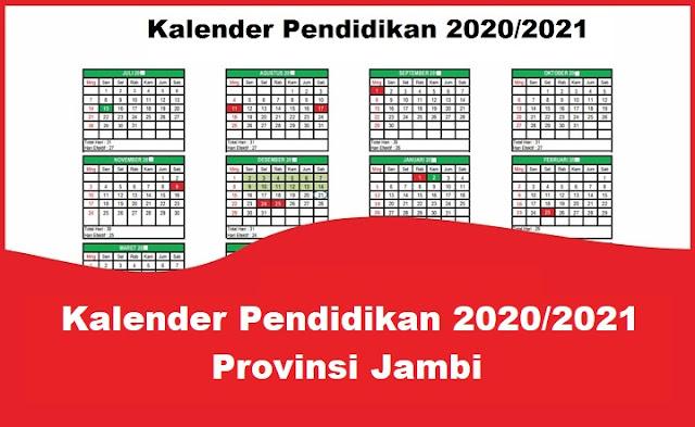 Kalender Pendidikan 2020/2021 Provinsi Jambi