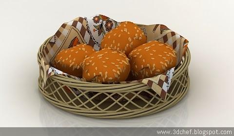 free 3d model bread