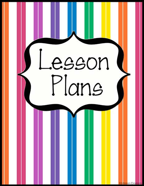Johnson Creations: Grade Book and Lesson Plans Book Covers