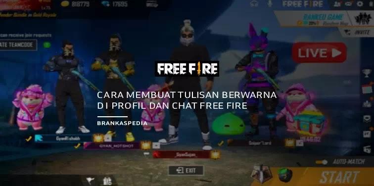 Cara Membuat Teks tulisan Berwarna di Profil dan Chat Free Fire
