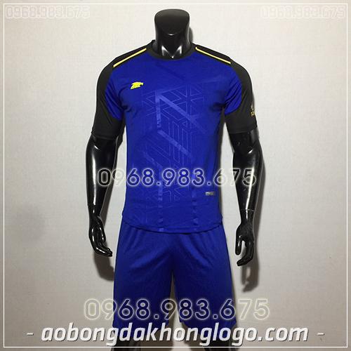 Áo bóng đá ko logo Eureka Raki màu xanh dương
