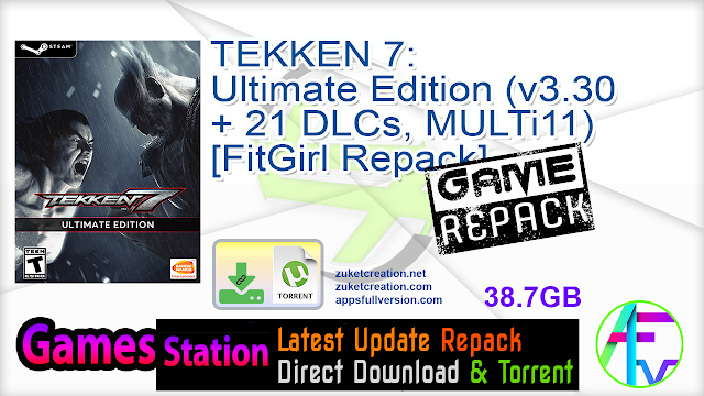 TEKKEN 7 Ultimate Edition (v3.30 + 21 DLCs, MULTi11) [FitGirl Repack, Selective Download – from 14.6 GB]