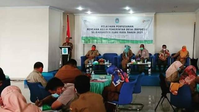 Kepala DPMD KKR buka Pelatihan Penyusunan RKPDesa se-Kabupaten Kubu Raya