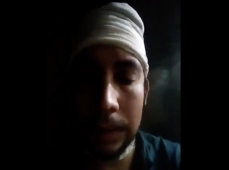 Vídeo, Omar pide ayuda a AMLO tras ser detenido por defenderse y lesionar a sus asaltantes
