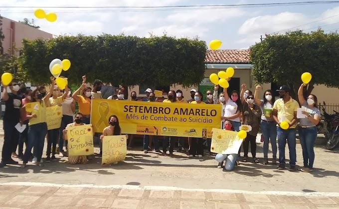Assistência Social de Amparo realizou Caminhada alusiva ao Setembro Amarelo para conscientização e prevenção ao suicídio