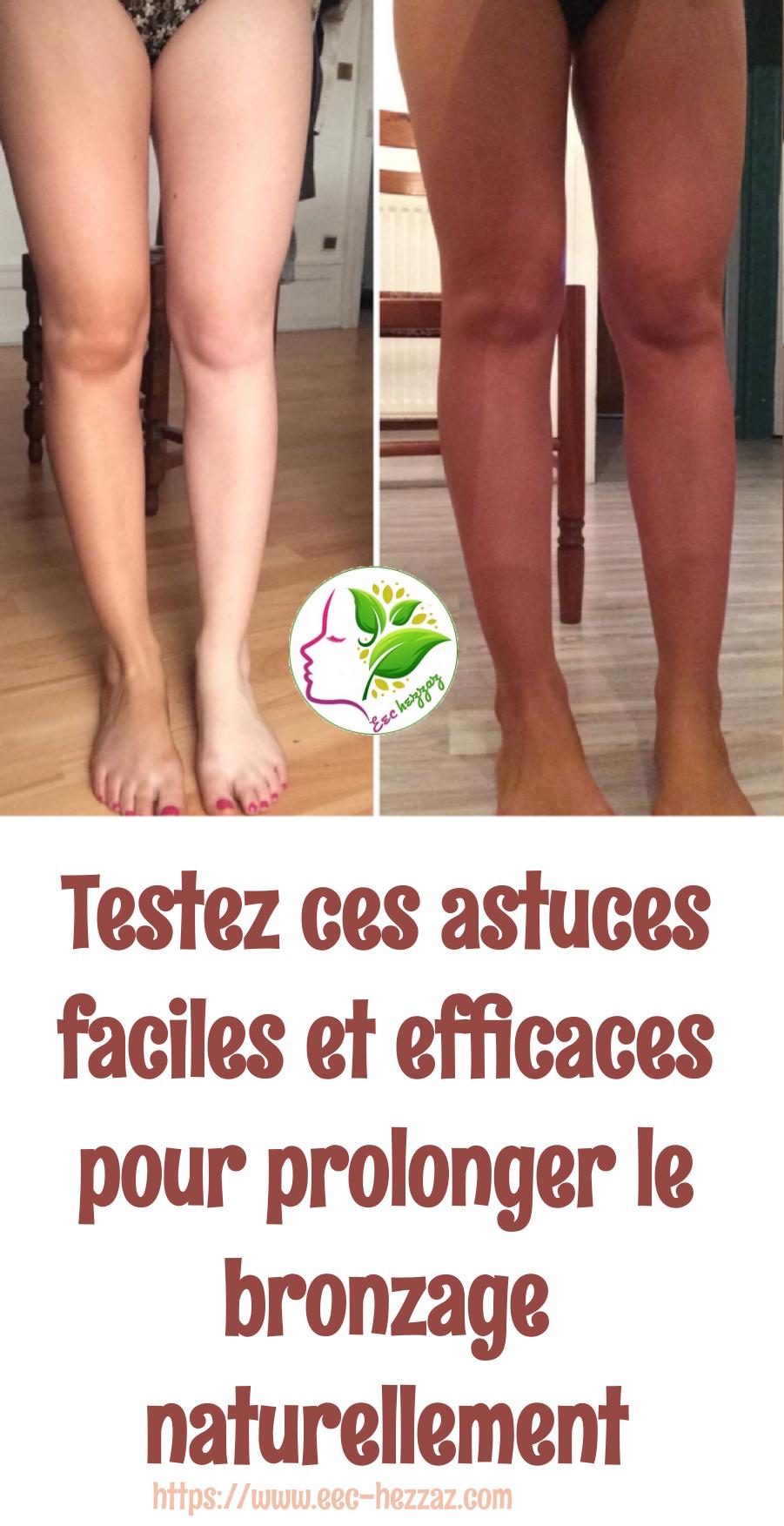 Testez ces astuces faciles et efficaces pour prolonger le bronzage naturellement