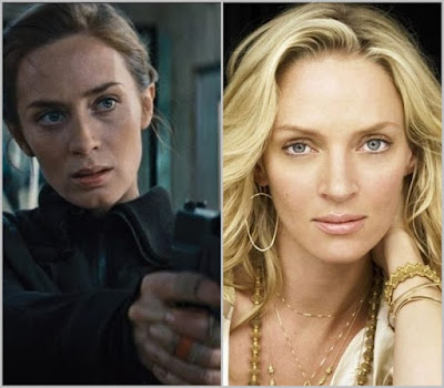 Emily Blunt and Uma Thurman