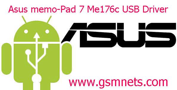 Asus memo Pad 7 Me176c USB Driver Download
