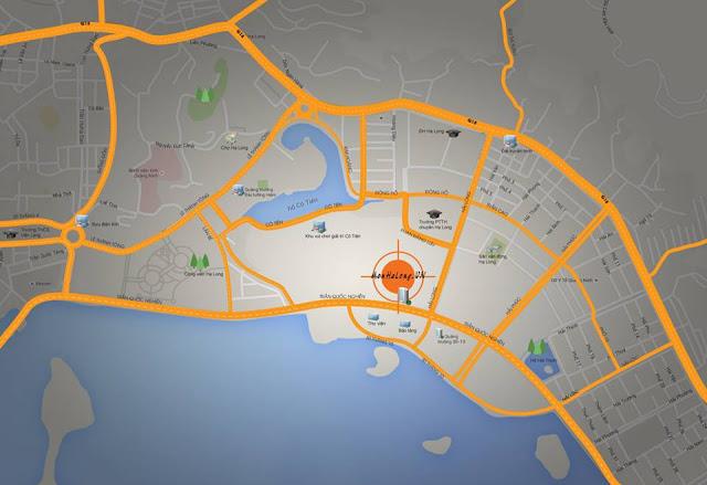 Vị trí đắc địa của MOn Bay Hạ Long