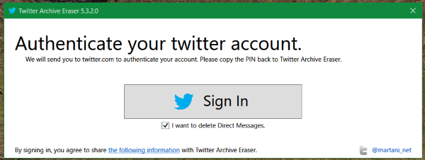 Authenticate-twitter-account