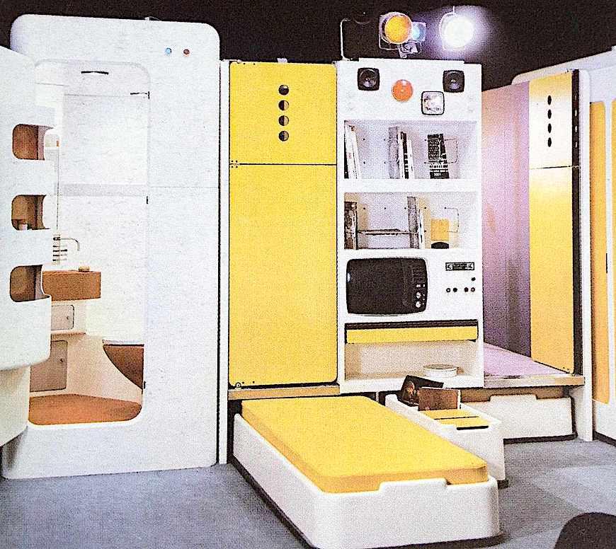 1972 modular plastic home, a color photograph