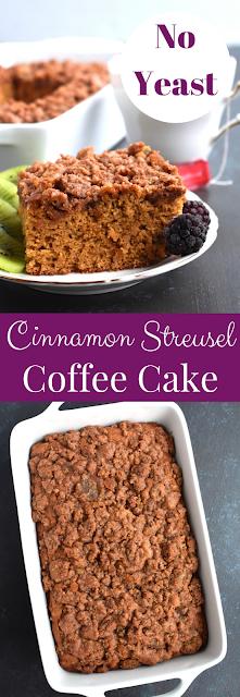 Yeastless Cinnamon Streusel Coffee Cake