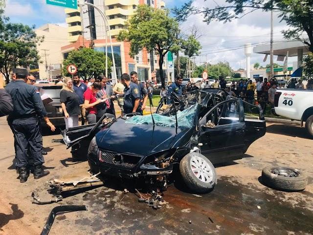 Estudante de medicina morre em acidente violento em Ciudad Del Este