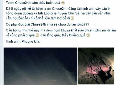 Gia Lai: Giám đốc Sở giải quyết nhanh phản ánh của dân qua Facebook