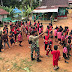 Sehat dan Ceria, Satgas Yonif 407/PK Olahraga Jalan Sehat Bersama Anak-anak di Perbatasan