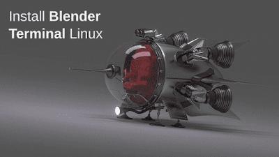 install blender terminal linux