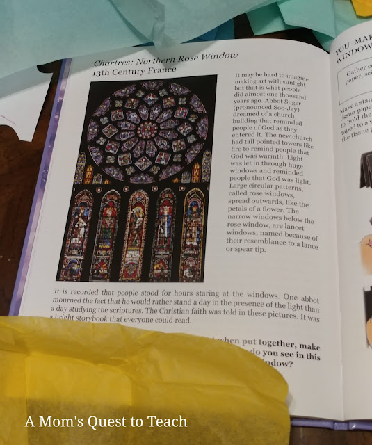 text of historical information re: Gothic stained glass