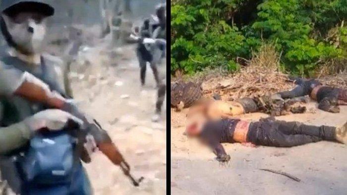 Video: Así se grabaron 15 Sicarios del Cartel de Sinaloa y así quedaron minutos después de ser emboscados y ejecutados por la contra