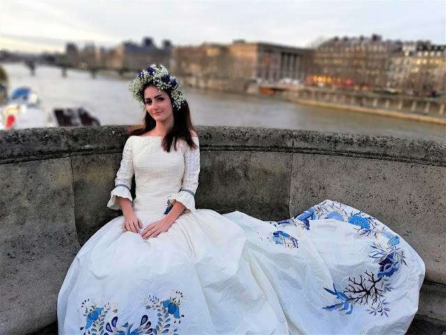 Robe primée au concours des arts textiles de Nantes