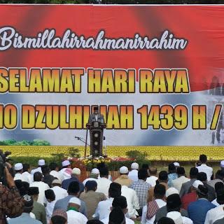 <b>Sholat Idul Adha Berlangsung Hikmad, Wagub Ajak Warga NTB Jauhi Maksiat</b>